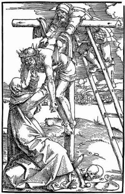 Ханс Бальдунг. Снятие с креста с Иосифом и Богоматерью