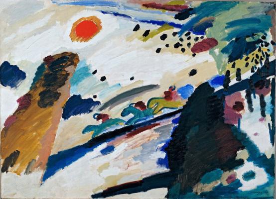 Wassily Kandinsky. Romantic landscape
