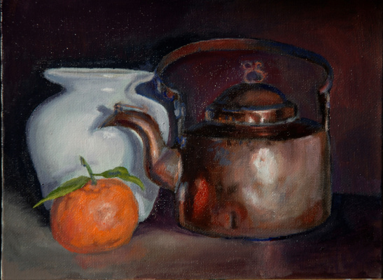 Sergey Valentinovich Karetnikov. Still life with copper kettle