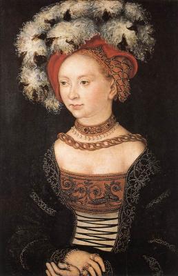 Lucas Cranach the Elder. Portrait of a young woman