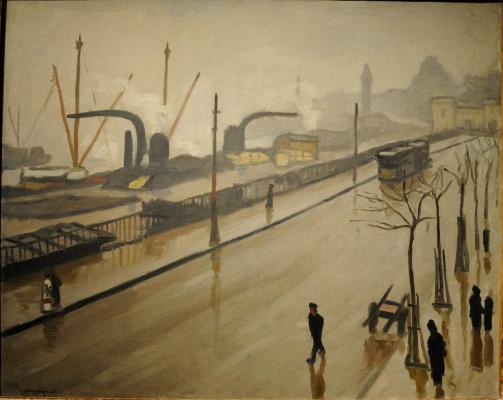 Albert Marquet. The port of Hamburg on a rainy day