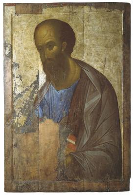 Andrey Rublev. Zvenigorod rank. Apostle Paul
