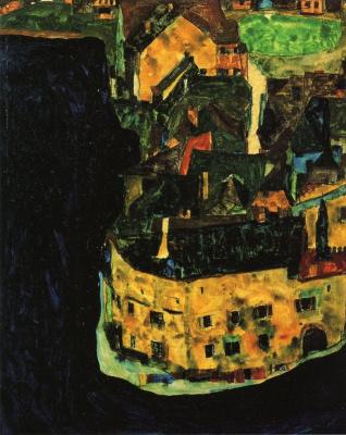 Egon Schiele. City on the blue river