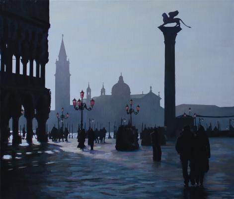 Сергей Витальевич Тепляков. Зимнее утро в Венеции