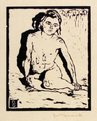 Giovanni Giacometti. Sitting girl (Ottilie)