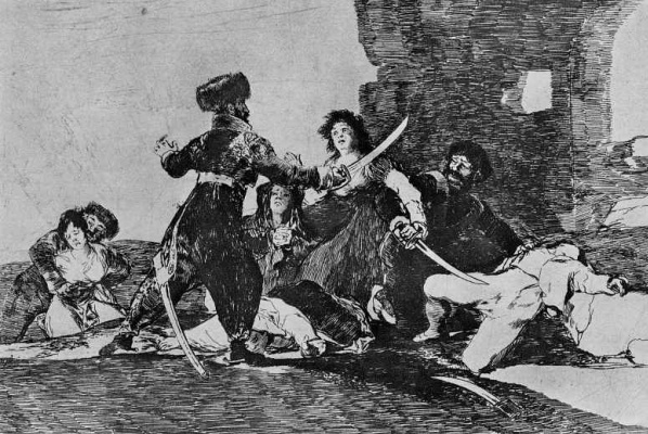 "Francisco Goya. The series ""disasters of war"", page 19: it's Too late"