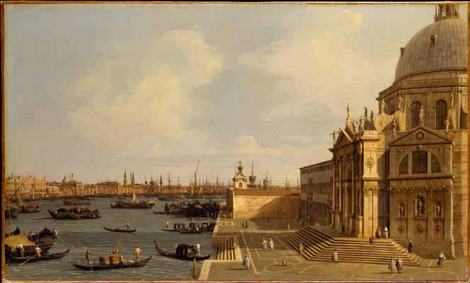 Giovanni Antonio Canal (Canaletto). Santa Maria della Salute Cathedral