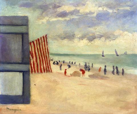 Henri Manguin. The beach at Touquet
