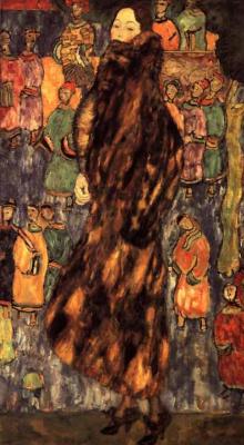Gustav Klimt. The lady in the fur coat of the weasel (work in progress)