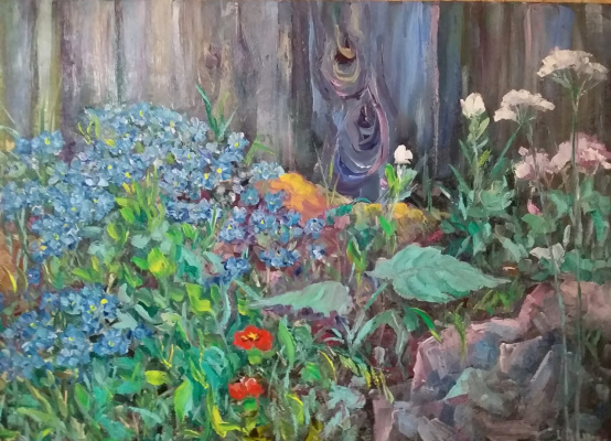 Valentin Nikolaevich Sudnitsyn. Forget-me-nots on the stones