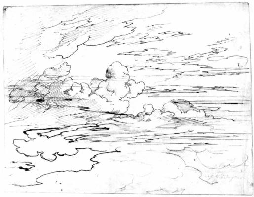 Карл Филипп Фор. Эскиз облаков