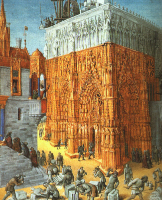 Jean Fouquet. The Jews build the Temple in Jerusalem