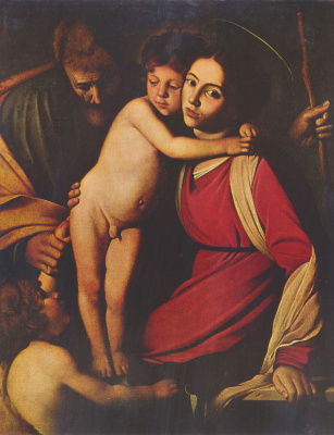 Michelangelo Merisi de Caravaggio. Holy family with John the Baptist