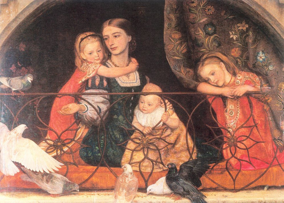 Arthur Hughes. Mrs. Leifart with three children