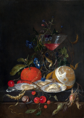 Jan Davids de Hem. Still life with oranges