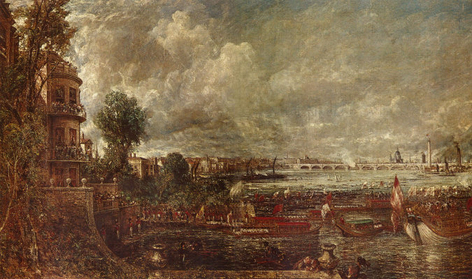 Вид на мост Ватерлоо со ступеней Уайтхолла, 18 июня