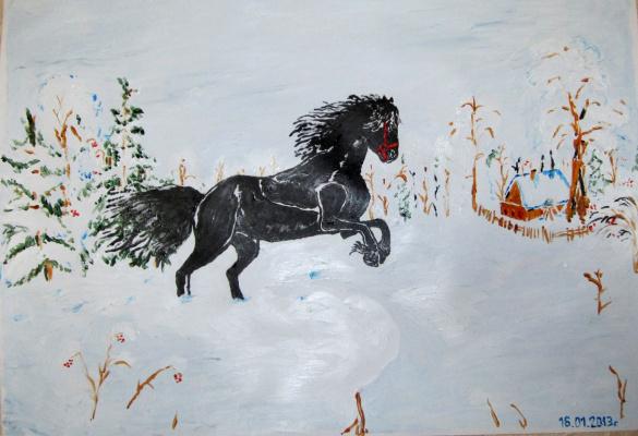 Дмитрий Юрьевич Буянов. A black horse