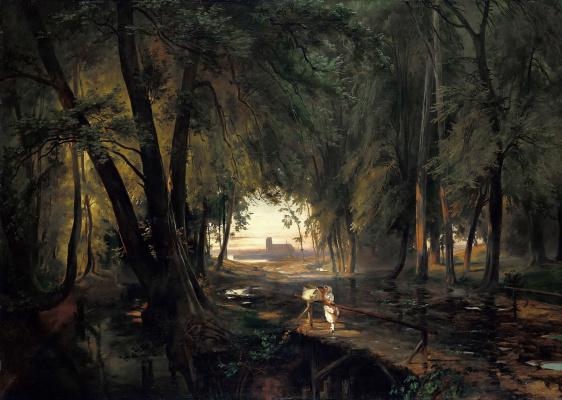 Карл Эдуард Фердинанд Блехен. Лесная тропинка близ Шпандау