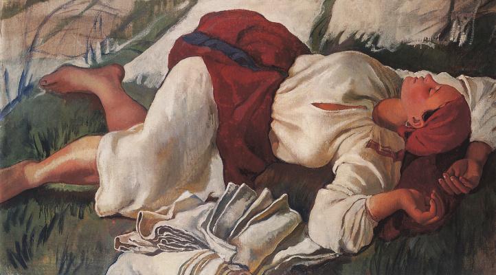 Zinaida Yevgenyevna Serebriakova. The sleeping peasant