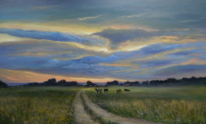 Marina Dmitrievna Razin. Rural landscape