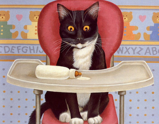 Lowell Herrero. Cats. April 94