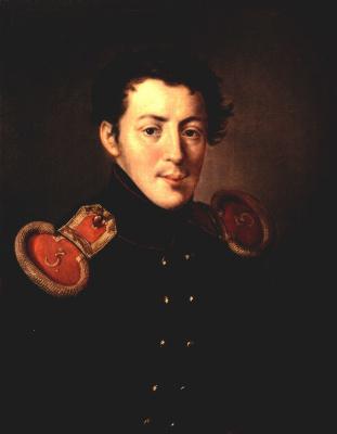 Vasily Andreevich Tropinin. Portrait of captain Ivan Alymov