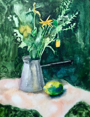 Anna Biei. Зеленые цветы