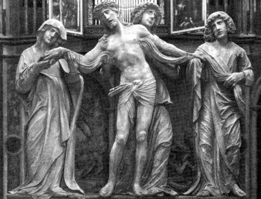 Адольф Даучер. Христос с Марией и Иоанном