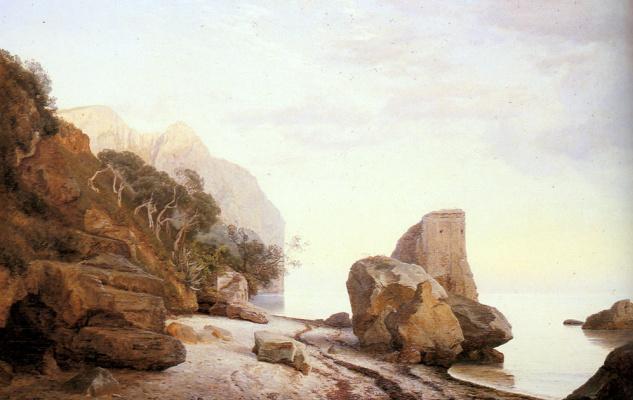 Янус Андреас Бартолин Ла Кур. Скалы вдоль берега
