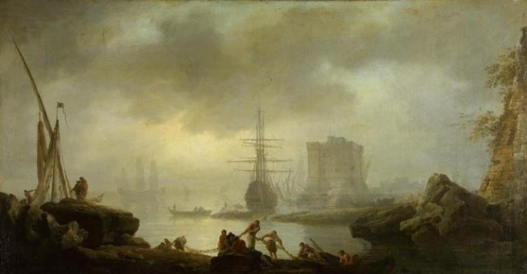 Claude Joseph Vernet. Sea view. Fog
