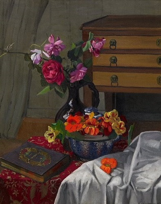 Felix Vallotton. Roses and nasturtiums