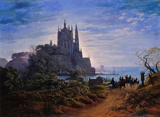 Карл-Фридрих Шинкель. Готический собор на скале у моря