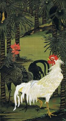 Ито Дзякутю. Петухи под пальмами