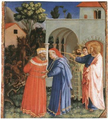 Фра Беато Анджелико. Апостол Иаков освобождает от пут мага Гермогена. Около 1426–1429