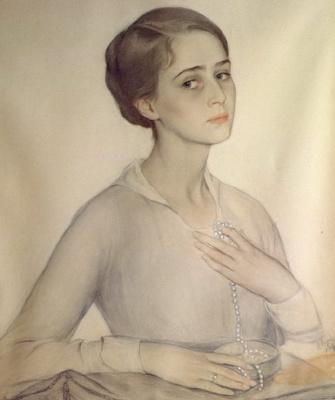 Saveliy Abramovich Sorin. Portrait of Olga Spesivtseva. 1917