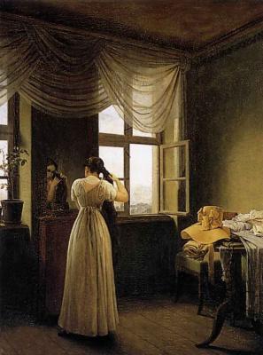 Georg Friedrich Kersting. The mirror