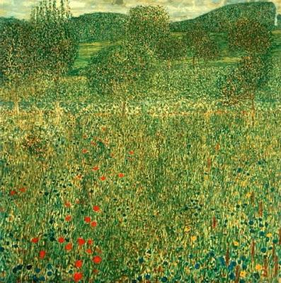 Gustav Klimt. Blooming fields in Litzlberg
