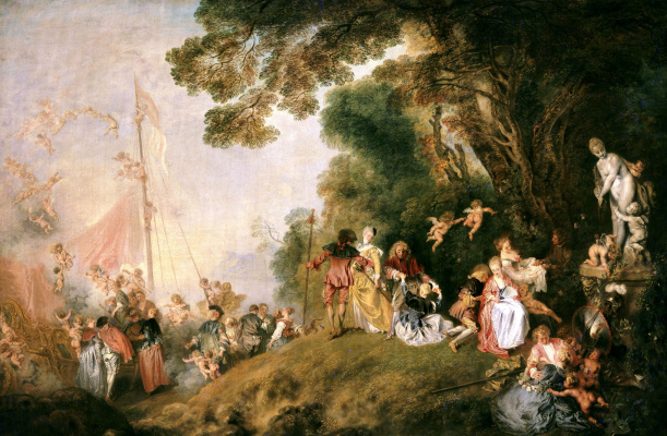 Antoine Watteau. Pilgrimage to the island of Kythira (the second option)
