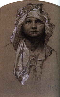 Alphonse Mucha. Head girls