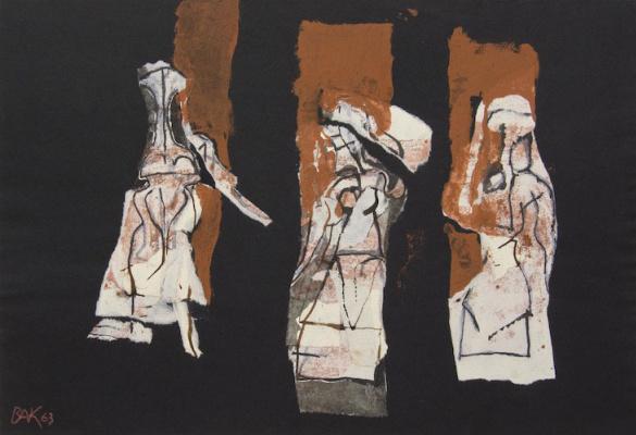 Samuel Bak. Three Figures