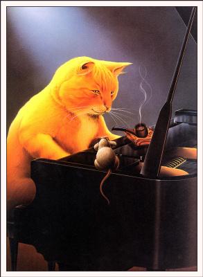 Рик Ловелл. Кот-пианист