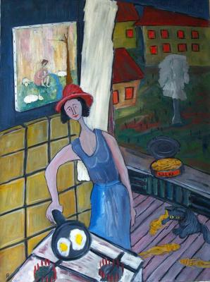 Svyatoslav Ryabkin. Evening on kitchen Evening on the kitchen