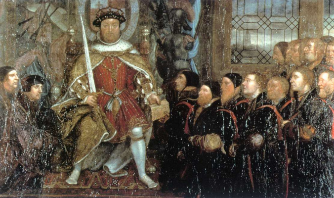 Hans Holbein The Younger. Henry VIII surrounded by doctors
