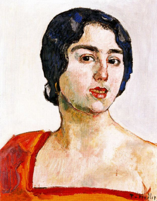 Ferdinand Hodler. Lady in Red