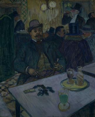 Henri de Toulouse-Lautrec. Monsieur Boileau in the cafe