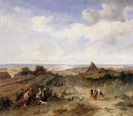 Йоханнес Тавенраат. Равнинный пейзаж