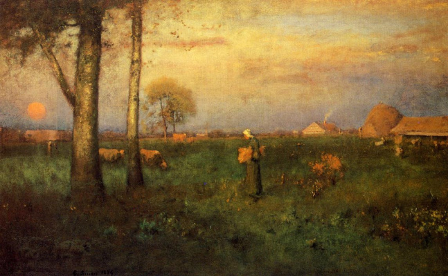 George Innes. Sunset