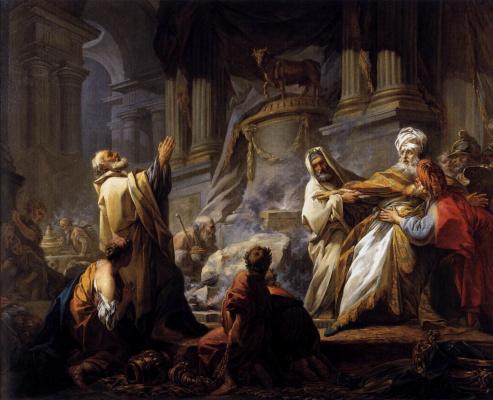 Jean Honore Fragonard. Jeroboam sacrifices to the idol
