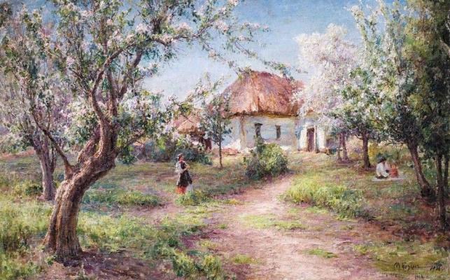 Михаил Андреевич Беркос. Весна. Цветут яблони
