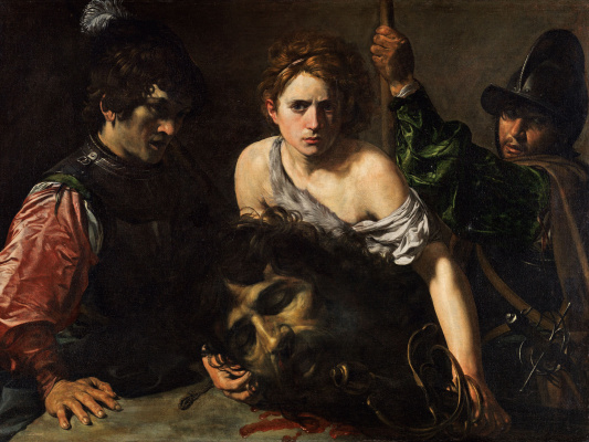 Valentine de Boulogne. David with the head of Goliath and two soldiers